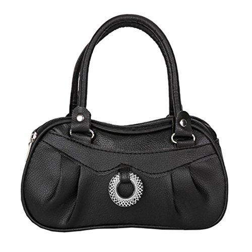 a mano borsa moda Nero Fami a Tote di Rosso puro colore Borsa donne delle donna da tracolla SqqHnw7zv5