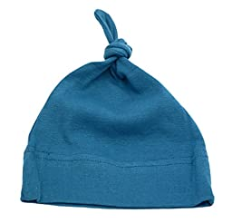 Mato & Hash Unisex Baby 100% Cotton Adjustable Knot Hat 3PK B.Blue/S.Blue/D.Grey