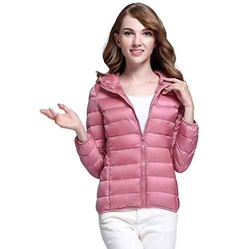 Sxyts Casual Capucha Para Pluma Pink Coreana Con Delgada Chaqueta De Invierno Mujer Adulto RnvZRrqw