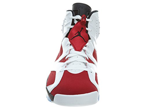 Nike Mens Air Jordan 6 Scarpe Da Basket Retrò In Pelle Carminio Bianco / Carminio-nero