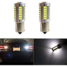 1156 P21W BA15S 87 93 97 97A Reverse Bulbs Map Light Extremely Bright with 33pcs 5630SMD LED Backup Brake Bulb Lights White Xenon Reverse Light (Set of 2)