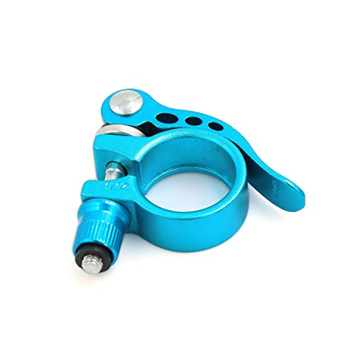 uxcell サイクリングシートクランプ フィット28.6mm 径シートポスト ブルー