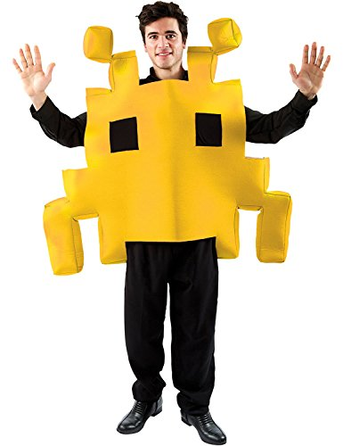 Adult Yellow Space Arcade Game - Space Invaders Costume