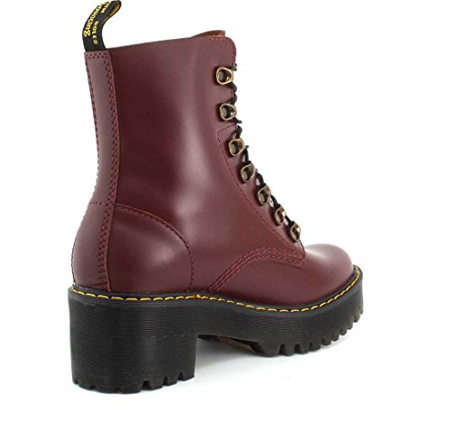 Dr.Martens Womens Leona 7-Eyelet Leather Boots Red