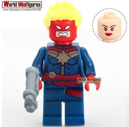 Marvel Super Hero Captian America Civil War Ms. Marvel Building Block Minifigur (Without Box) (Mrs Marvel Costume)