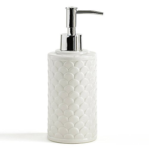 Kassatex Lotion Dispenser, Scala Bath Accessories | Embossed Porcelain