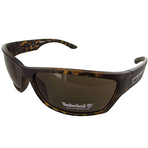 Timberland Mens TB7134 Rectangular Wraparound Sunglasses, - Timberland Mens Sunglasses