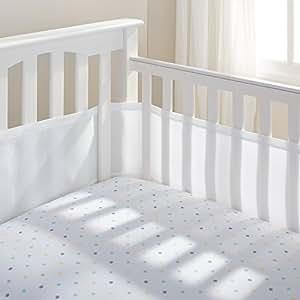 BreathableBaby Breathable Mesh Crib Liner, White