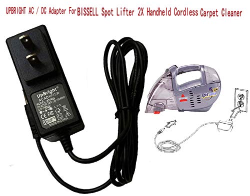 UpBright 12V AC/DC Adapter Replacement for Bissell Spot Lifter 2X Handheld Cordless Carpet Cleaner 1718 1719 17191 1719Q 1719T 1719Y 1719Z 160-2178 203-2577 203-2578 203-2579 SIL SSC-4W-12 US 120017 ()