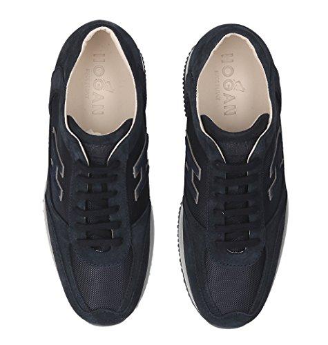 Camoscio Sneakers HXM00N0Q10267A3735 Hogan Blu Uomo qTZEnTdxU
