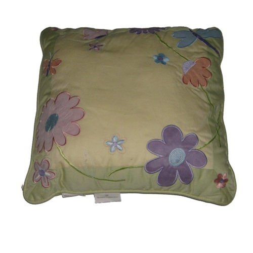 Blossoms & Blooms Yellow Embroidered Flowers Throw Pillow Floral Accent (Pillows Toss Kohls)