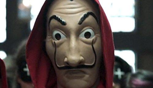 Eurocarnavales - Kit de La casa de papel - Disfraz y máscara de la famosa serie de televisión La casa de papel - Disfraz de Salvador Dalí para carnaval y ...