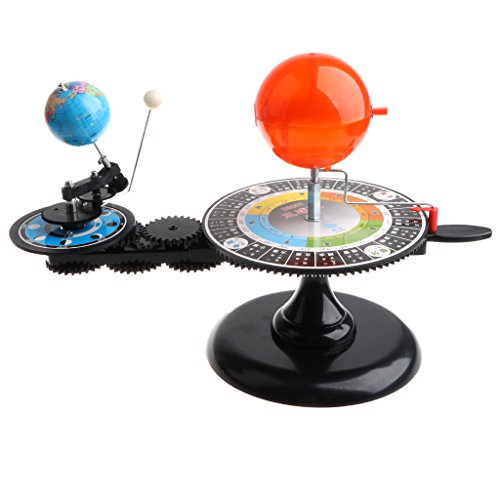 DYNWAVE Solar System Sun Earth Moon Orbital Planetarium Demonstration Model with Light, Educational Science Astronomy Toy