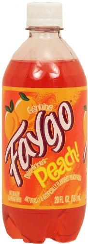 Faygo peach flavor soda, caffeine free, 20-fl. oz. plastic bottle