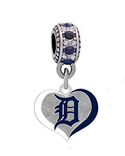 Final Touch Gifts Detroit Tigers Swirl Heart Charm