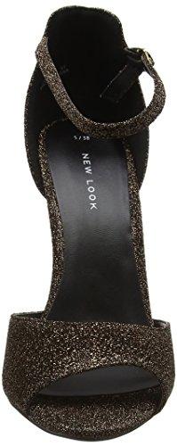 Brown bronze Look Con Donna Cinturino Sandali Alla Slur New Caviglia zgwqn6d8zS