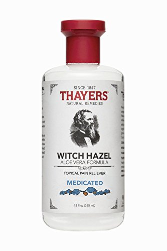 Thayers Witch Hazel Aloe Vera Formula, Medicated 12 oz by THAYERS