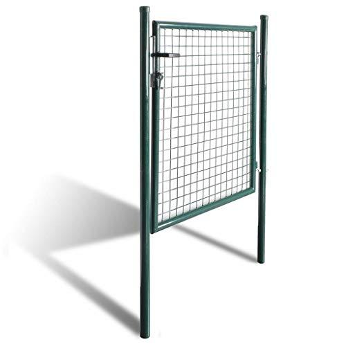 - Clever Market Garden Single Door Metal Patio Gate Stable Durable Fence Gate Terrace Entrance Fencing Door Powder-Coated Steel 39.4