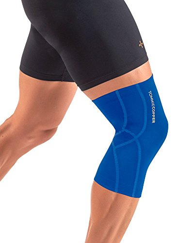 Tommie Copper Performance Knee 2.0 Sleeves, Cobalt Blue/TC Tonal Stitch, Small