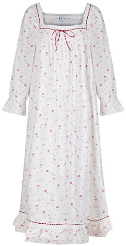 The 1 for U Martha Nightgown 100% Cotton Victorian Style - Sizes XS - 3X … (XL, Vintage Rose)