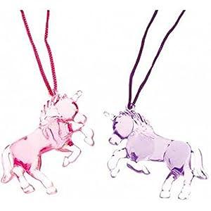 - 41wvYvm7fvL - Unicorn Necklace 12 ct Necklaces (12 per Package)