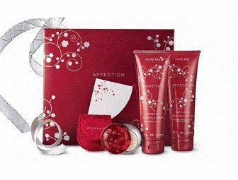 Mary Kay Affection Set in Gift Box with Card ~ Full Size Affection Shower Gel Wash & Body Lotion ~ Affection Eau De Parfum Fragrance Solid & Red Velvety Case