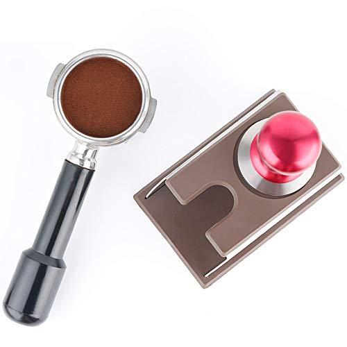 W4G_Store - Tampones de café de la mejor calidad - Soporte de silicona resistente de acero inoxidable para café expreso y café - 2 colores - 1 pieza negro: ...