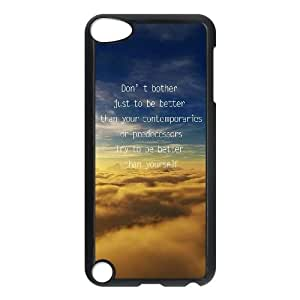 iPod Touch 5 Case Black quotes parallax better than yourself SUX_112723