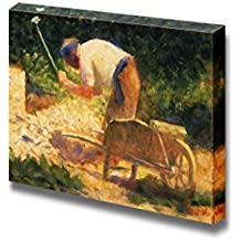 """Wall26 - The Stone Breaker by Georges Seurat - Canvas Print Wall Art Famous Painting Reproduction - 24"""" x 36"""""""