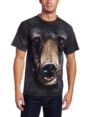 The Mountain Men's Bear Face T-Shirt, Black, Small