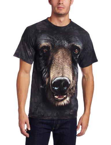 The Mountain Black Bear Face Adult T-Shirt, Black, Large