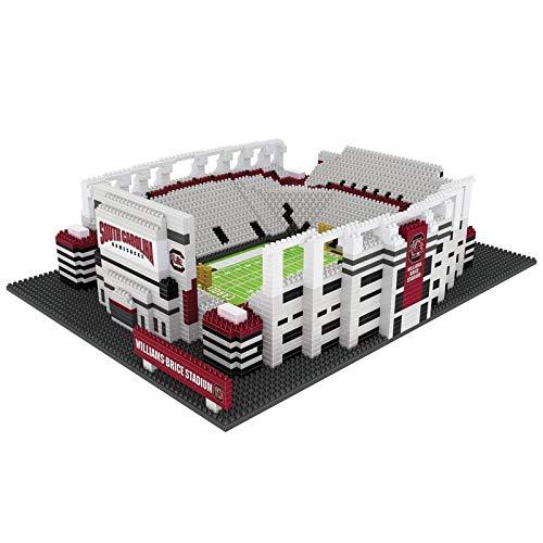 FOCO NCAA South Carolina Gamecocks 3D Brxlz Stadium Building Block Set3D Brxlz Stadium Building Block Set, Team Color, One Size