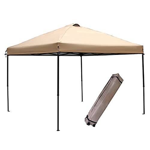 Abba Patio 10 x 10-Feet Outdoor Pop Up Portable Shade Instant Folding Canopy with Roller Bag Tan  sc 1 st  Amazon.com & Canvas Canopy: Amazon.com