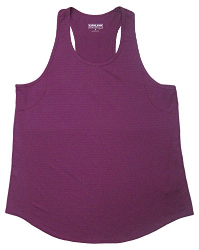 Kirkland Signature Ladies' Racerback Moisture Wicking Active Tank (Size XL, Color Purple) (Bras Womens Signature)