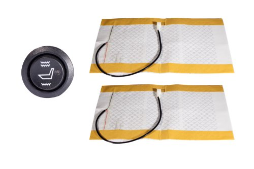1 x Auto Carbon Sitzheizung Nachrüstsatz Universal 2x Heizmatten Runder Schalter