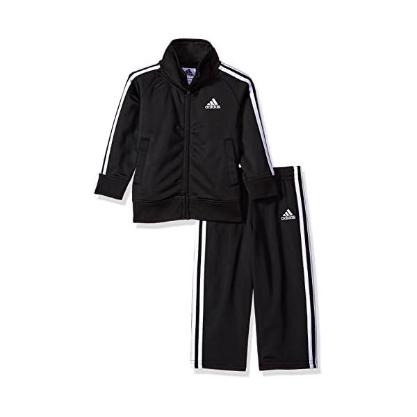 Kerrian Online Fashions 41wvaCW6C1L adidas Baby Boys Li'l Tricot Jacket & Pant Clothing Set