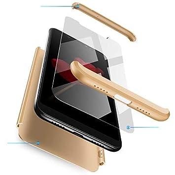 RINOJF Funda Compatible Samsung Galaxy A50 Carcasa[2 Vidrio Templado] 360° protección Caja Ultra Delgado Duro PC 3 en 1 Anti-Golpes Anti-Arañazos Case ...
