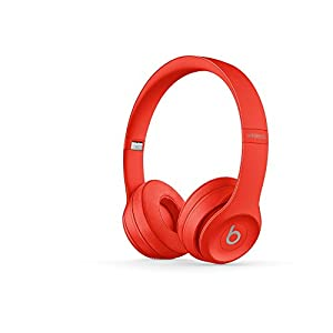 Beats Solo3 Wireless On-Ear Headphones – Citrus Red (Previous Model)