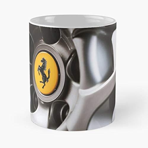 Ferrari Mags Prancing Horse Car Badge Digital Photo Coffee Mugs Unique Ceramic Novelty Cup