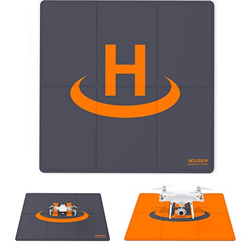 2021 VCUTECH Drone Landing Pad Pro Fast-Fold Double-Sided Waterproof 25 inch(65cm) Compatible with DJI Mavic Air 2, Air…