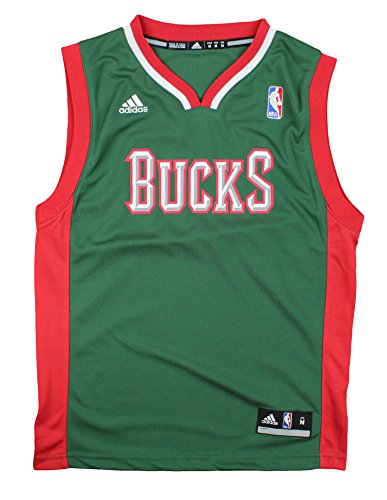 Milwaukee Bucks NBA Youth Big Boys Logo Road Replica Jersey - Green (X-Large (18/20))