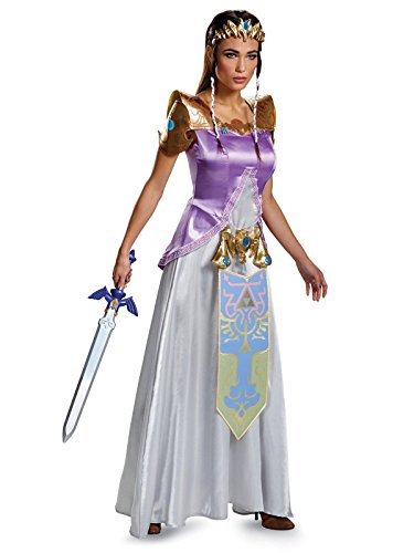 Disguise Women's Legend Deluxe Zelda Adult Costume, Multi, X-Large