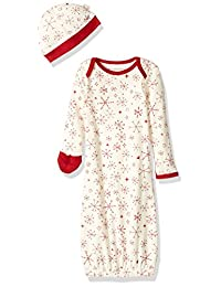 Burt's Bees Baby Unisex-Baby Baby Organic Gown & Cap Set