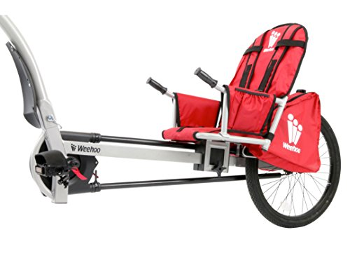 Weehoo Kids Turbo Bicycle Trailer, Red/Black, One Size