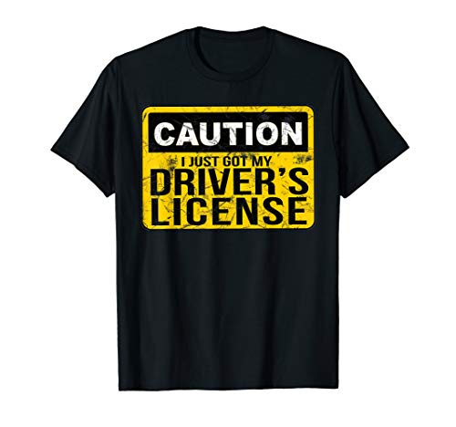 Funny Driver's License T Shirt for New Drivers ()