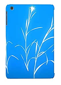 Christmas Day's Gift- New Arrival Cover Case With Nice Design For Ipad Mini/mini 2- White Grass Silhouette