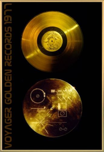Records Poster and Frame Plastic - The Sounds Of Earth, Voyager Golden Records