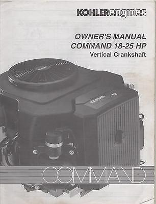 1996 KOHLER ENGINES COMMAND 18-25 HP VERTICAL CRANKSHAFT OWNER'S MANUAL ()