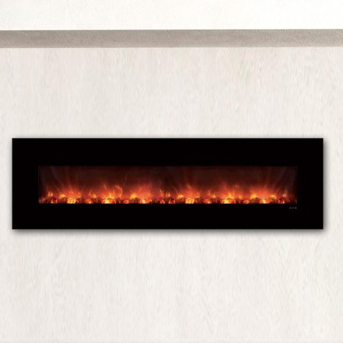 Cheap Modern Flames CLX Series Wall Mount/Built-in Electric Fireplace with Black Glass Front 100-Inch Black Friday & Cyber Monday 2019