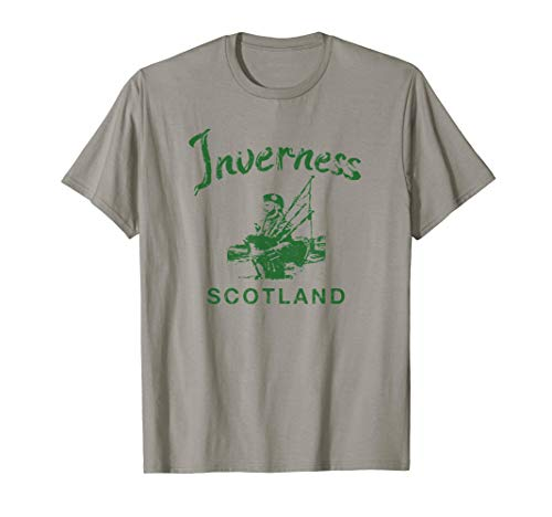 Inverness Scotland Scottish Bagpipes Vintage Gaelic T-Shirt